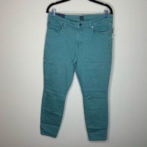 NWT Gap Teal Legging Skimmer Pants 31R